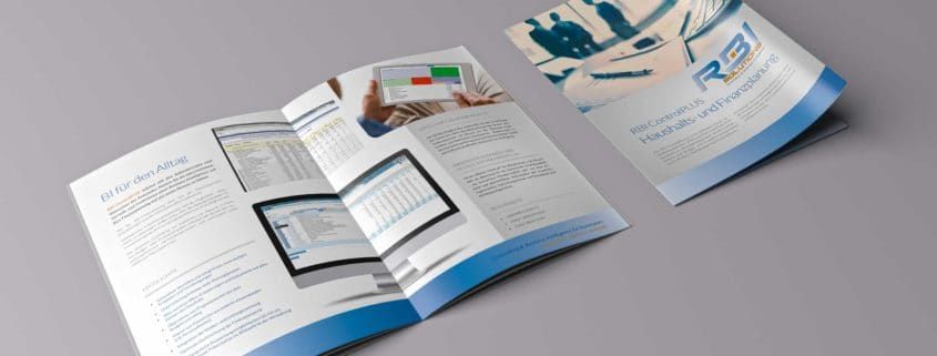 Produktflyer Haushalts- und Finanzplanung der Business Intelligence RBI ControlPLUS